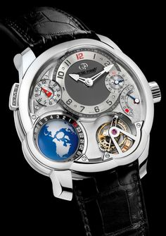 Holy crap. Not the best looking watch but it has a globe in it.