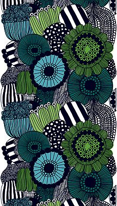 The Siirtolapuutarha from Marimekko Vancouver is a unique fashion item. Marimekko Vancouver carries a variety of printed fabric and other Fabric items. Motifs Textiles, Textile Patterns, Textile Design, Fabric Design, Print Patterns, Pattern Design, Zentangle Patterns, Zentangles, Marimekko Fabric