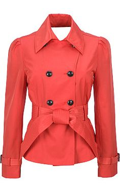 Peplum Trench Coat---love!!