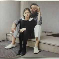 Gainsbourgs. Charlotte and Serge. New favourite book. The 1991 Je Suis Venu Te Dire... We LOVE it. Email if you want@idea-books.com #sergegainsbourg #charlottegainsbourg #janebirkin #1991