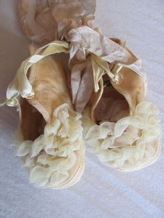 ruffled shoes - I have a pair like these that were mine as a child.