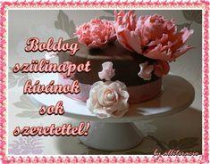 szülinapi képek, képeslapok, rózsák, torták, köszöntők Wedding Anniversary Wishes, Happy Birthday, Birthday Cake, Desserts, Christmas, Food, Google, Quotes, Happy Aniversary