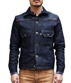 // Different look for denim jacket, very nice