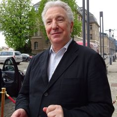 "austenide: ""Another cute picture of Alan Rickman in Berlin. Credit: wretchedandkings """