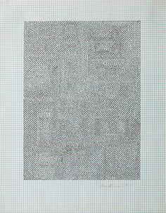 Eva Hesse No title, 1967 Ink on graph paper, 10-7⁄8 x 8-1⁄2 inches (via Craig F. Starr Gallery - Eva Hesse and Sol LeWitt)