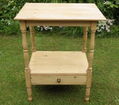 VICTORIAN Stripped Pine SMALL WASHSTAND