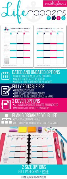 Life Happens Printable Planner - This is the ultimate DIY organization solution for yout busy life.