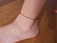 Gold anklet 14 K gold ankle bracelet rosario by VasiaAccessories