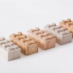 wooden lego blocks by mokurokku