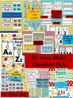 Dr. Seuss Mega Classroom Pack. Theme for next year possibly.