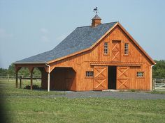 barns | This 30'x24' Horse Stable has full loft, (3) 12'x10' stalls, (1) 12 ...