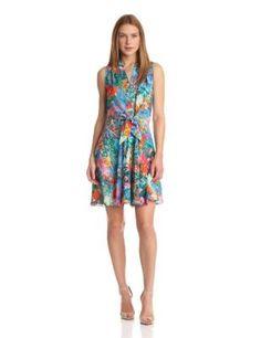 Amanda Uprichard Women's Swing Tie Front Dress, Splash, Large : Shopping Reviews