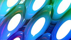 Abstract Shapes #3D, #Abstract, #Animated, #Animation, #Blue, #Color, #Dj, #Loop, #Music, #Neon, #Repeat, #Rotating, #Shapes, #TenteanGeorge, #Vivid, #Wall http://goo.gl/hPb9Lb