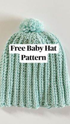 Crochet Girls, Crochet Baby Clothes, Crochet Baby Hats, Knit Or Crochet, Learn To Crochet, Crochet Stitches, Modern Crochet Patterns, Baby Hat Patterns, Knitting Patterns