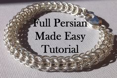 Chainmaille Jewelry Tutorial Full Persian Bracelet Instructions