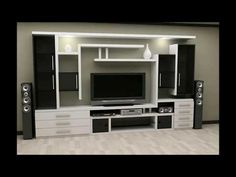Lcd Unit Design Modern For Bedroom + Lcd Unit Design Modern Lcd Unit Design, Lcd Wall Design, Tv Unit Interior Design, Tv Unit Furniture Design, Wall Unit Designs, Living Room Tv Unit Designs, Design Design, Blog Design, Modern Tv Room