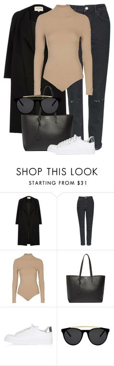 """Untitled #2288"" by annielizjung ❤ liked on Polyvore featuring River Island, Topshop, Yves Saint Laurent and Smoke & Mirrors"