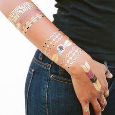 Washington Redskins Metallic Fashion Tattoos - $11.99