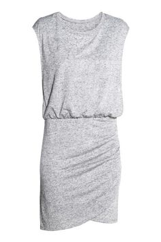 Sleeveless nursing dress in soft jersey. Double-layer front section with deep armholes and wrapover lining for easier nursing. Seam at waist, Maternity Wear, Maternity Dresses, Maternity Fashion, Maternity Styles, Nursing Dress, Nursing Clothes, Gray Dress, Peplum Dress, Mama Cloth