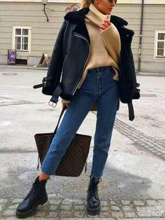 Uni Outfits, Trendy Fall Outfits, Casual Winter Outfits, Winter Fashion Outfits, Mode Outfits, Spring Outfits, Autumn Fashion, Autumn Outfits, Winter Outfits Women