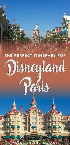 If you're planning to visit Paris, then you don't want to miss a day at Disneyland! Here's the perfect itinerary so you know what to expect. #disneylandparis #paris