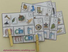 Jeu autocorrectif de formules magiques (cartapinces) - Les alphas de LaCatalane