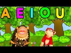 La Canción de las Vocales - A E I O U - El Mono Sílabo - Educación Infantil - YouTube