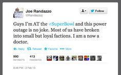 The Funniest Tweets Of The Great Super Bowl Blackout