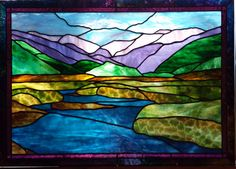 colorado mountains stained glass - Google Search