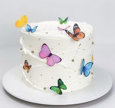 14th Birthday Cakes, Butterfly Birthday Cakes, Pretty Birthday Cakes, Butterfly Cakes, Birthday Cake Girls, Pretty Cakes, Cute Cakes, Beautiful Cakes, Amazing Cakes
