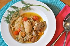 Cooking a healthy dinner at home does not have to be complicated or take lots of time. This simple recipe for chicken, shallots and fresh dill will only take you about 45 minutes from start to finish. Meals that are rich in protein and fiber and low in carbs, like this one, will help you build muscle and stay lean.
