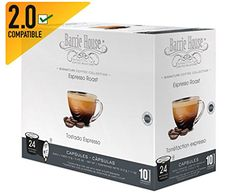 Barrie House Espresso Roast Single Cup Capsule 72 Capsules *** Details can be found by clicking on the image. Note: It's an affiliate link to Amazon.