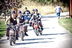 Groomsmen on dirt bikes!