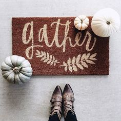 Gather.  Let's get together and be THANKFUL!