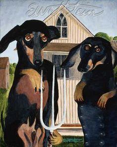 Dachshunds in Art: Earl Wettstein