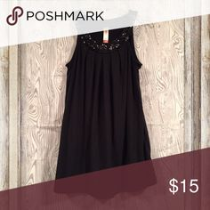 Very cute Sleeveless blouse Very cute sleeveless blouse! Black sequins  at neckline. Poly/rayon/spandex No Boundaries Tops Blouses