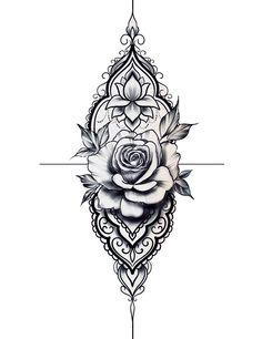 Full Arm Tattoos, Rose Tattoos, Body Art Tattoos, Sleeve Tattoos, Mandala Wrist Tattoo, Mandala Tattoo Design, Floral Tattoo Design, Flower Tattoo Designs, Flower Cover Up Tattoos