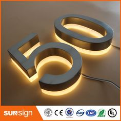 Cheap stainless steel signage, Buy Quality letter sign directly from China led letters sign Suppliers: Backlit stainless steel Signage for Advertising illuminated shop front LED letters signs Illuminated House Numbers, Solar House Numbers, Illuminated Signs, Solar Led, Solar Lights, Electronic Signs, Light Letters, White Led Lights, White Light