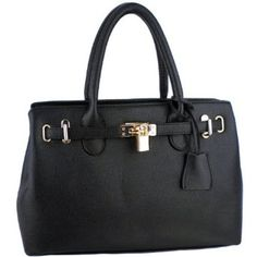 Fashion Style : MG Collection HESSA Décor Lock Office Tote Handbag...