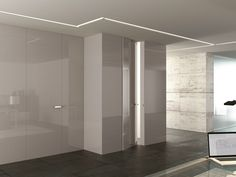 Boiserie / porta in legno INFINITY SYSTEM LINEAR Collezione Glossy by Ghizzi