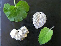 Art clay silver leaf impressions.
