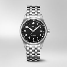 This new version of the Pilot's Watch Automatic 36 makes the iconic instrument design typical of IWC Pilot's Watches suitable for a slimmer wrist. Iwc Watches, Watches For Men, Iwc Chronograph, Iwc Pilot, Watch Companies, Automatic Watch, Collections, Candy, Jewelry