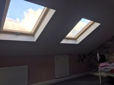 Attic conversion with natural light from a velux window
