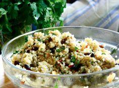 Warm Quinoa Salad with Cumin Lime Vinaigrette