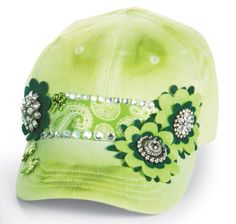 St. Patrick's Day Floral Baseball Cap