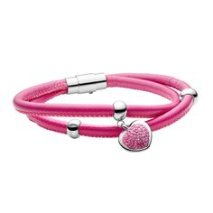Tocara, Inc. - Live your style. Love your life. Argent Sterling, Love Your Life, Stainless Steel Bracelet, Live For Yourself, Your Style, Pink, Heart, Bracelets, Jewelry