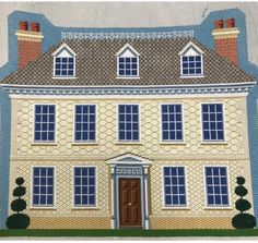 Needlepoint manor house from Kirk & Bradley