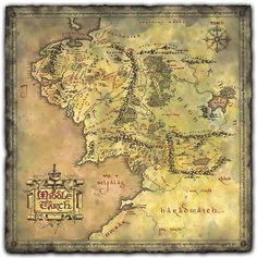 The Lord of the Rings Map of Middle Earth - Take My Paycheck | The coolest gadgets, electronics, geeky stuff, and more! Shut up and take my money!