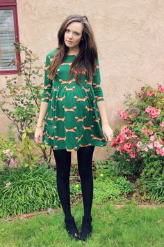 Cute fox dress- perfect for #maternity wear!