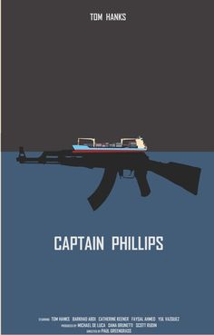 Captain Phillips (2013) ~ Minimal Movie Poster by Joe Fries ~ 2014 Oscar Nominees #amusementphile